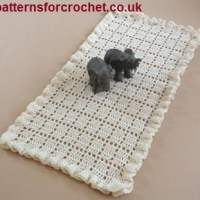 Frilled Table Runner ~ Patterns For Crochet