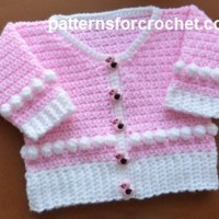 Scoop Neck Cardigan ~ Patterns For Crochet