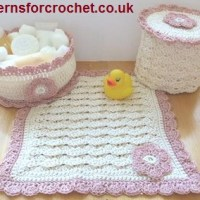 Bathroom Set ~ Patterns For Crochet