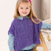 Litttle Fashion Poncho by Michele Maks for Red Heart