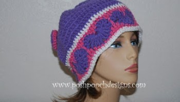 80cb0f4aa70 Happy Hearts Beanie and Slouchy Hat by Sara Sach of Posh Pooch Designs