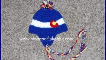 2fbbbdd827e Fuzzy Top Colorado Flag Beanie by Sara Sach of Posh Pooch Designs ...