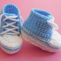 Baby Converse Booties by aamragul of Crochet/Crosia Home