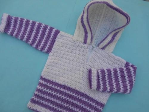 Crochet Hooded Sweater by aamargul of Crochet/Crosia Home