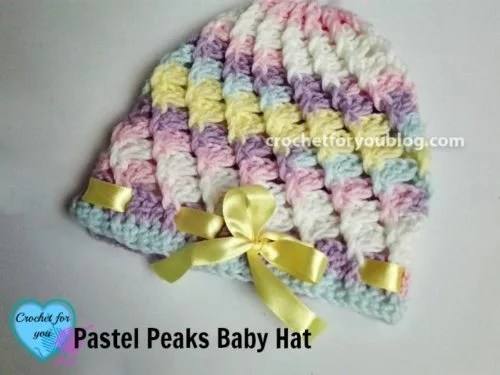 Pastel Peaks Crochet Baby Hat by Erangi Udeshika of Crochet For You