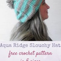 Aqua Ridge Slouchy Hat by Marie Segares/Underground Crafter