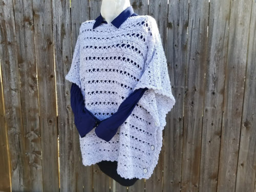 Light & Lacy Poncho by Erica Fedor from Highland Hickory Designs