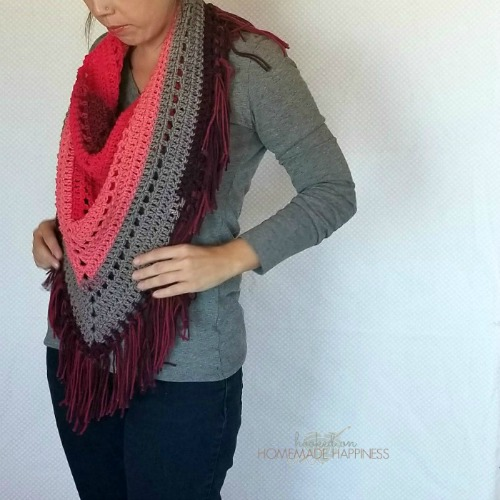 Piece of Cake Triangle Scarf by Hooked on Homemade Happiness