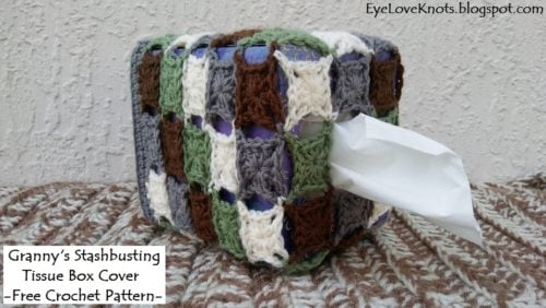 Granny's Stashbusting Tissue Box Cover by EyeLoveKnots
