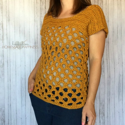 Honeycomb Top by Hooked on Homemade Happiness