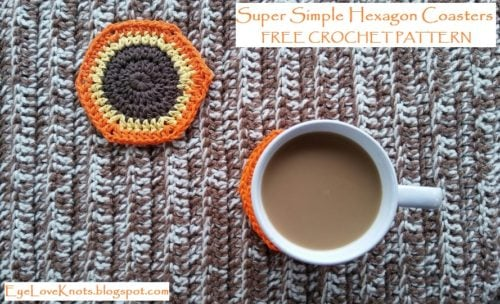 Super Simple Hexagon Coasters by EyeLoveKnots