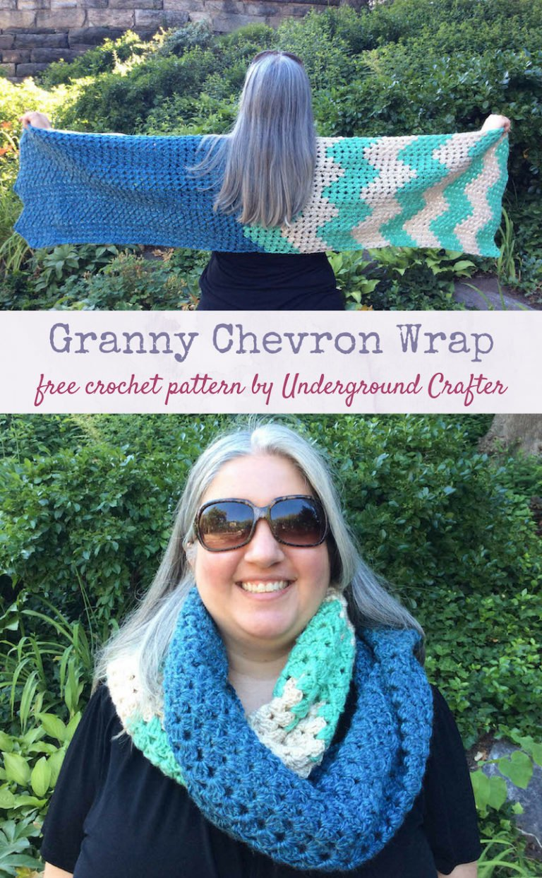 Granny Chevron Wrap by Marie Segares/Underground Crafter
