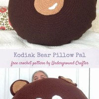 Kodiak Bear Pillow Pal by Marie Segares/Underground Crafter