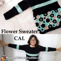 Crochet Flower Sweater CAL by Candy Lifshes from Meladora's Creations