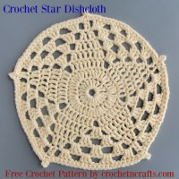 Crochet Star Dishcloth by CrochetNCrafts