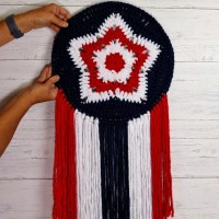Star Mandala Wall Hanging by Pamela Grice from Made with a Twist