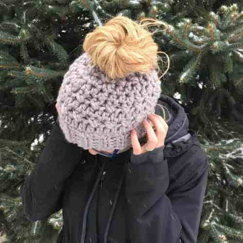 Messy Bun Hat with Elastic