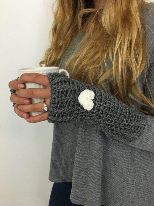 Free Crochet Pattern Loveland Fingerless Gloves Crochetpreneur