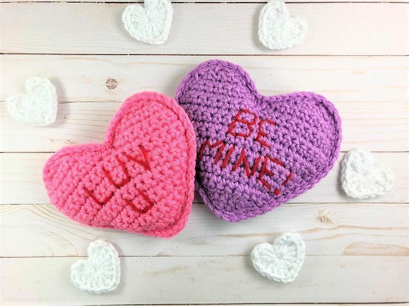 free crochet pattern conversation hearts