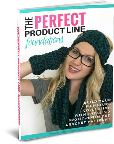 Cover of The Perfect Product Line Foundations. A list of signature profit optimized crochet patterns