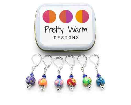 Stitch Markers from Pretty Warm Designs | Gift Guide for Crocheters