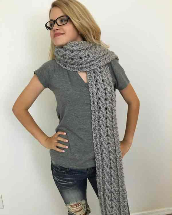 Crochet Ardara Oversized Cable Scarf