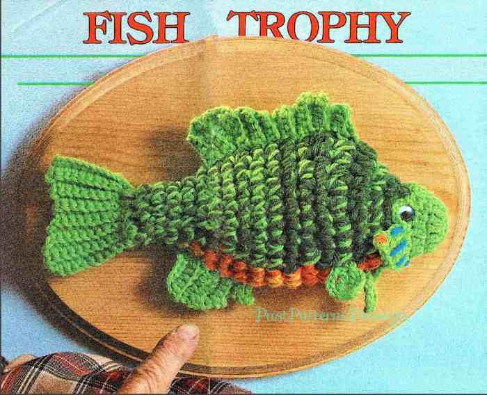 trophy fish crochet pattern summer crochet patterns for men