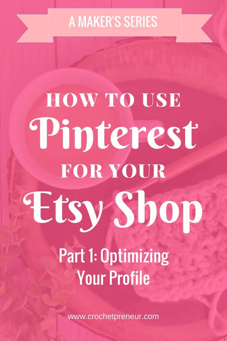 Learn the ins and outs of using Pinterest to promote your Etsy shop. #etsyseller #etsypromotion #etsyshoppromotion #marketingetsy #etsymarketing #usepinterestforetsy #pinterestbusinessprofile #pinterestprofile