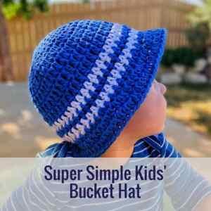 Super Simple Kid's Sun Hat: Free Crochet Pattern