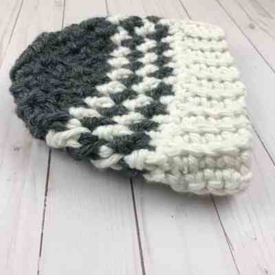 Crochet Pattern Houndstooth Messy Bun Hat Crochetpreneur