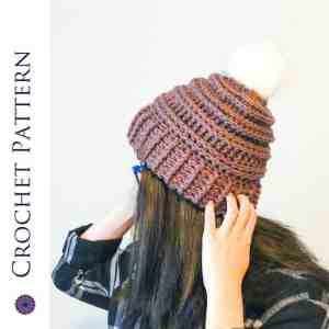 Ribbed Double Brim Hat: Free Crochet Pattern