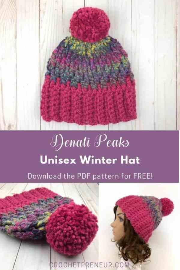 Unisex Winter Hat Crochet Pattern Crochetpreneur