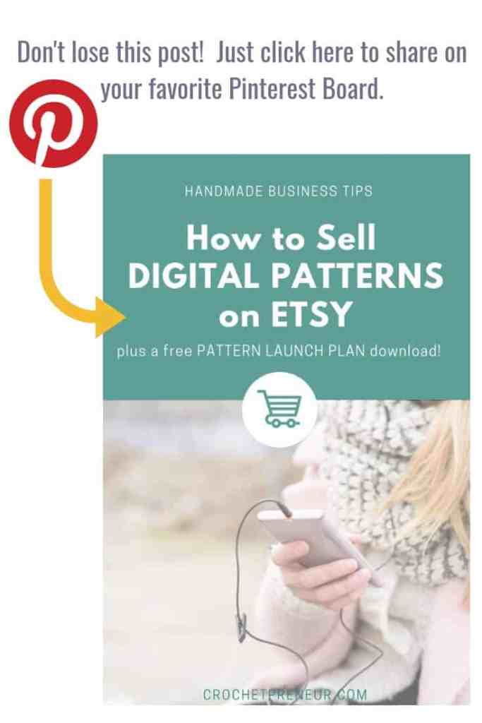 Pinterest graphic for Handmade Business Tips How to Sell Digital Patterns on Etsy