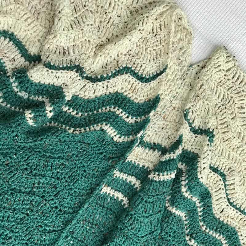 Photo of the Ripple Blanket Wrap FREE Crochet Pattern