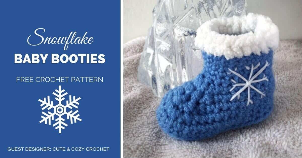 568526f6c75 Winter Snowflake Baby Booties Crochet Pattern - Crochetpreneur