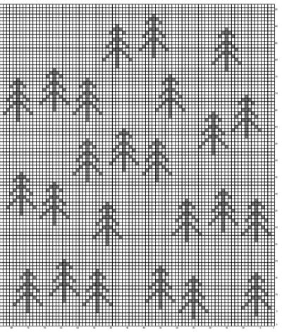nordic tree pillow chart