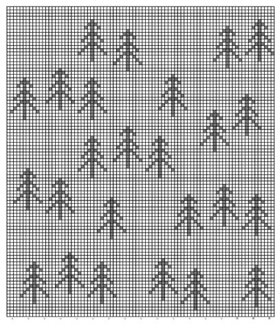 The Nordic Tree Pillow FREE Crochet Pattern Chart