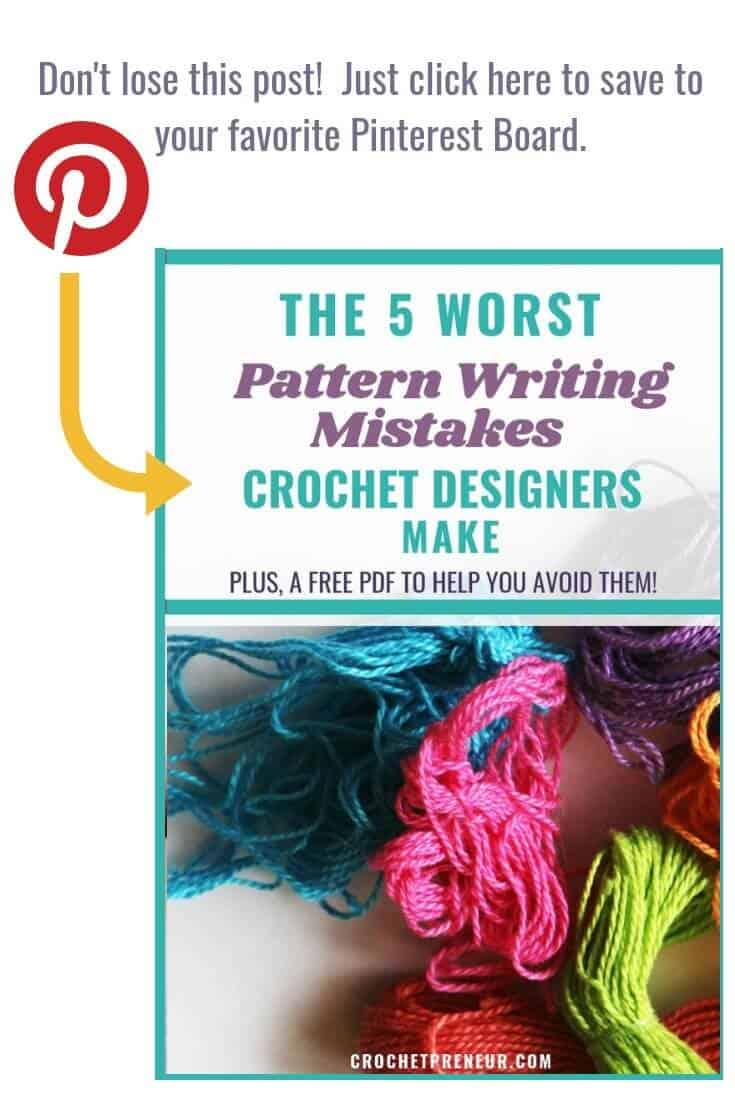 An image reminding the readers to pin this graphic in your own crochet related Pinterest boards