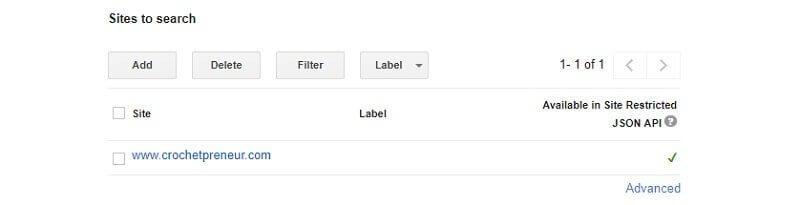 Edit your Google Custom Search Engine