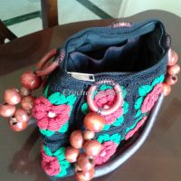 Red Roses Crochet Bag