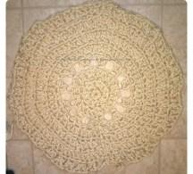 Chuncky yarn crochet rug