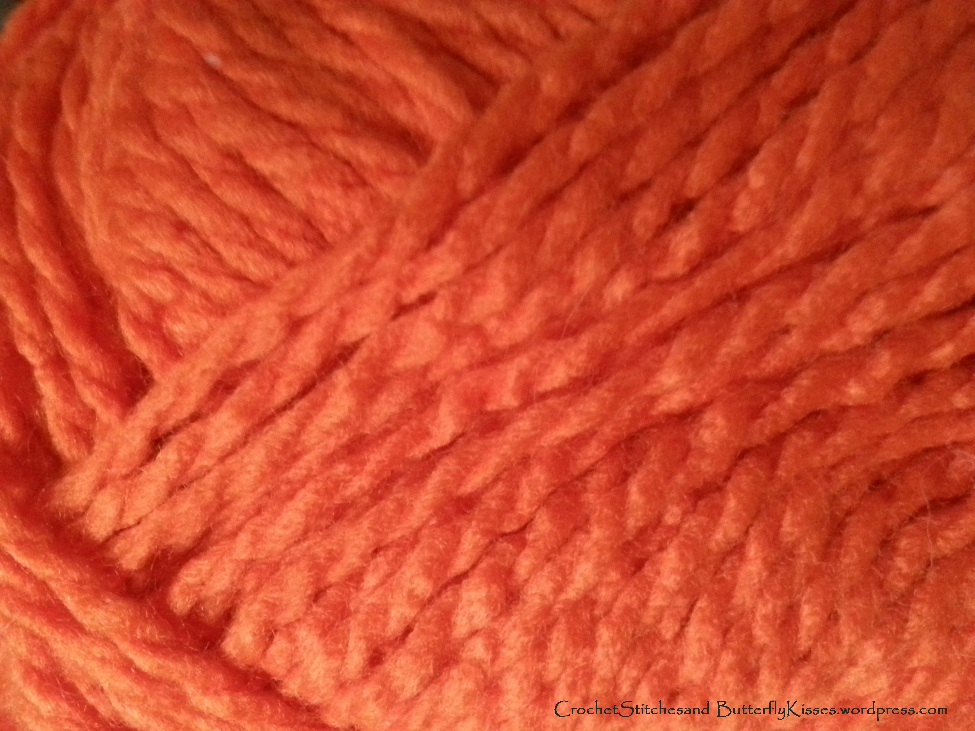 Wooly Wednesday ~ Just love this orange