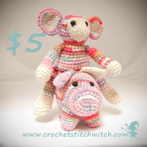 Pig and Monkey crochet pattern