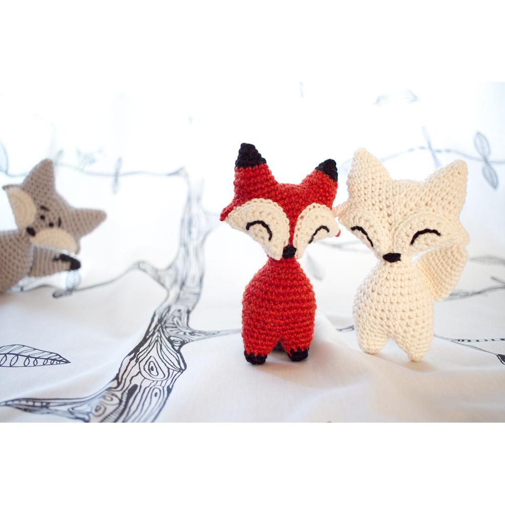 Cute little crochet fox | Crochet Stitch Witch