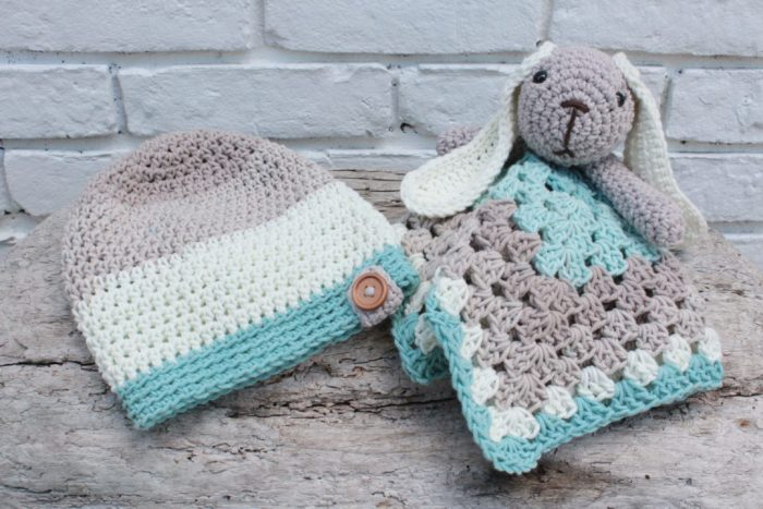 Crochet Slouch And Bunny Lovey Free Pattern For Babies And Toddlers