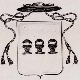 Arme prelatizia tradizionale degli Ecclesiastici insigniti di cariche, uffici e dignità, di Casa Brunetti.