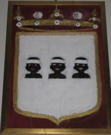 Arme della Famiglia Brunetti di Alfedena, dipinto su pala.