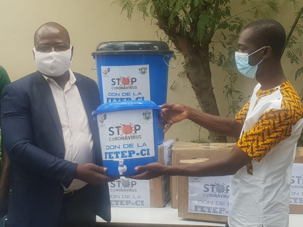 [Côte d'Ivoire/Lutte contre le Covid-19] La FETEP-CI équipe l'ISTM en matériels sanitaires