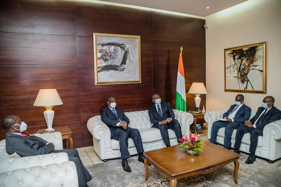 [Dialogue politique en Côte d'Ivoire] Le Premier Ministre Hamed Bakayoko et le Secrétaire Exécutif du PDCI-RDA, Maurice Kacou Guikahué ont échangé