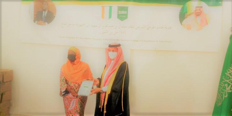 Le Royaume d'Arabie Saoudite a fait un important don à l'Etat de Côte d'Ivoire
